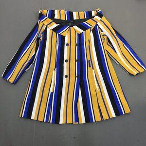 NWT Ashley Stewart Pencil Striped Colorful Dress